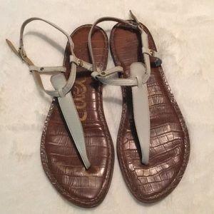 Sam Edelman white Gigi flat sandal, 7.5